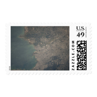 Aerial view of the Port-au-Prince area of Haiti Stamp