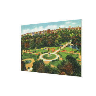 Aerial View of the Public Gardens # 2 Canvas Print