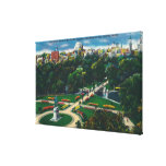Aerial View of the Public Gardens, Beacon Hill Canvas Print