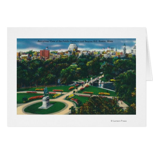 Aerial View of the Public Gardens, Beacon Hill Card