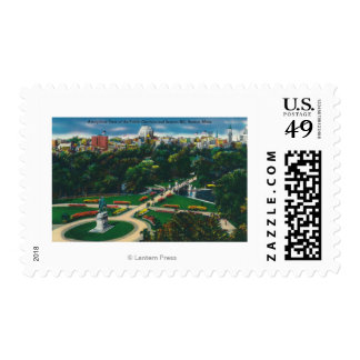 Aerial View of the Public Gardens, Beacon Hill Postage