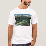 Aerial View of the Public Gardens, Beacon Hill T-Shirt