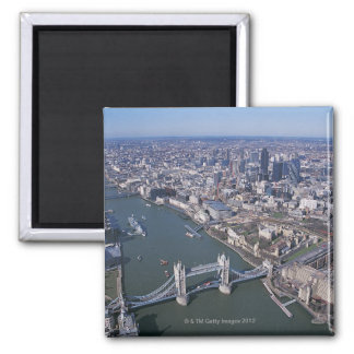 Aerial View of the River Thames Magnet