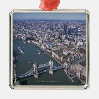 Aerial View of the River Thames Metal Ornament
