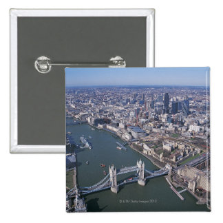 Aerial View of the River Thames Pinback Button