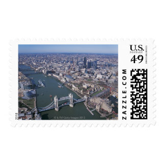 Aerial View of the River Thames Stamp