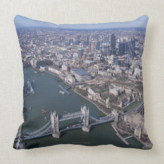 Aerial View of the River Thames Throw Pillow