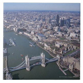 Aerial View of the River Thames Tile