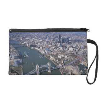 Aerial View of the River Thames Wristlet Purse