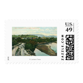 Aerial View of the San Lorenzo River Postage