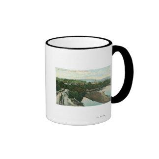 Aerial View of the San Lorenzo River Ringer Coffee Mug