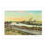 Aerial View of the San Pedro Harbor Post Cards
