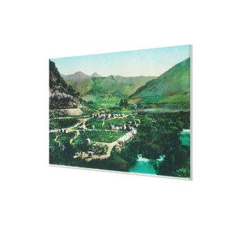 Aerial View of the SpringsLava Hot Springs, ID Stretched Canvas Print