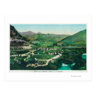 Aerial View of the SpringsLava Hot Springs, ID Postcard