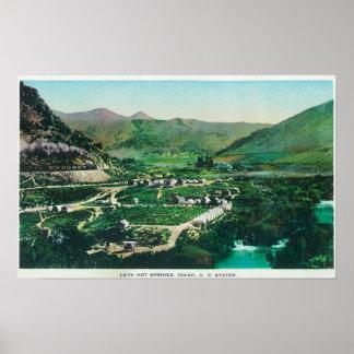 Aerial View of the SpringsLava Hot Springs, ID Print