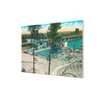 Aerial View of the Swimming Area Canvas Print