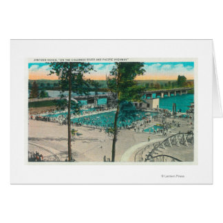 Aerial View of the Swimming Area Greeting Card