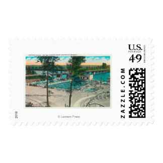 Aerial View of the Swimming Area Postage Stamps