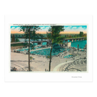 Aerial View of the Swimming Area Postcard