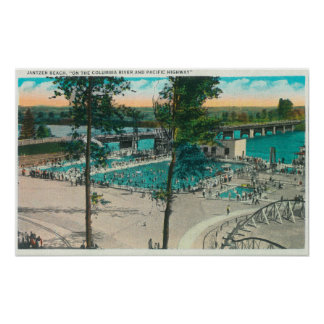 Aerial View of the Swimming Area Poster