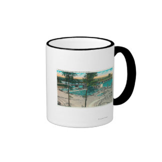 Aerial View of the Swimming Area Ringer Coffee Mug