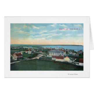 Aerial View of the Town 2 Greeting Cards