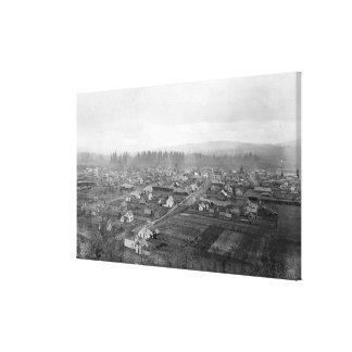 Aerial View of the Town 7 Gallery Wrapped Canvas