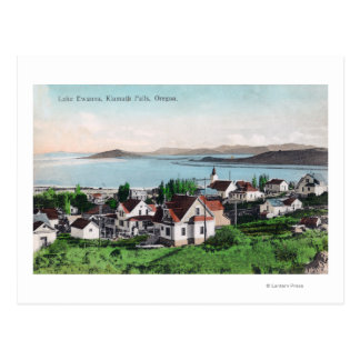 Aerial View of the Town and Lake Ewauna Post Card
