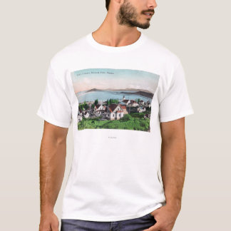 Aerial View of the Town and Lake Ewauna T-Shirt