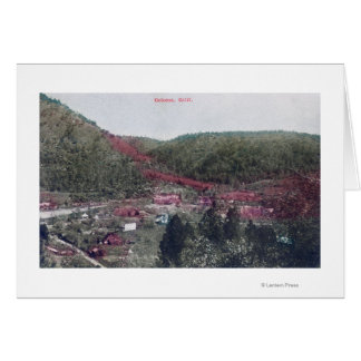 Aerial View of the TownColoma, CA Greeting Card