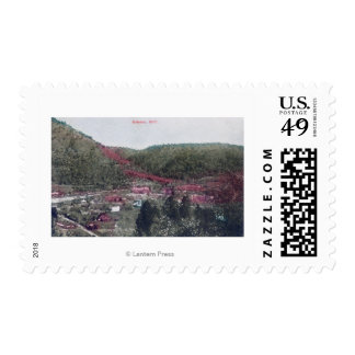 Aerial View of the TownColoma, CA Postage Stamp