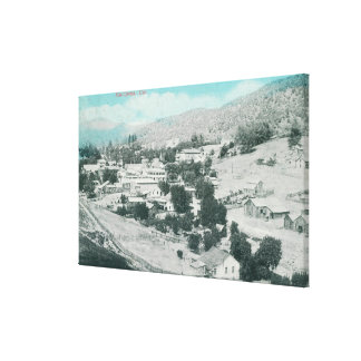 Aerial View of the TownMariposa, CA Gallery Wrap Canvas