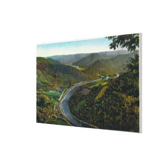 Aerial View of the Trail and Deerfield Valley Canvas Print