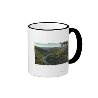 Aerial View of the Trail and Deerfield Valley Ringer Coffee Mug