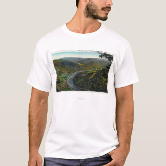 Aerial View of the Trail and Deerfield Valley T-Shirt
