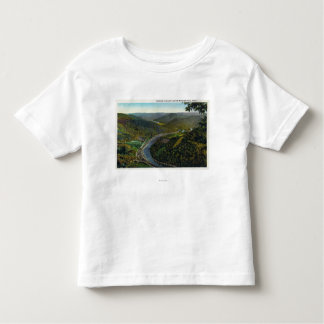 Aerial View of the Trail and Deerfield Valley Toddler T-shirt