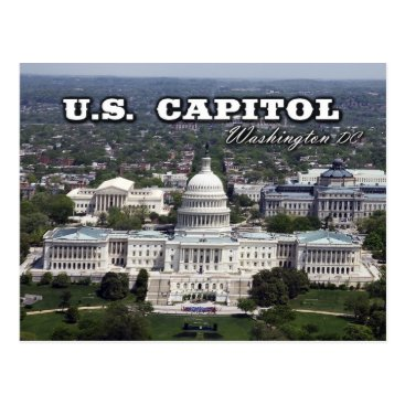 HTMimages Aerial view of the US Capitol in Washington DC Postcard