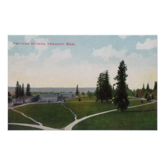 Aerial View of the Vancouver Barracks Poster