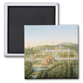 Aerial view of the villa of King Guillaume of Wurt 2 Inch Square Magnet