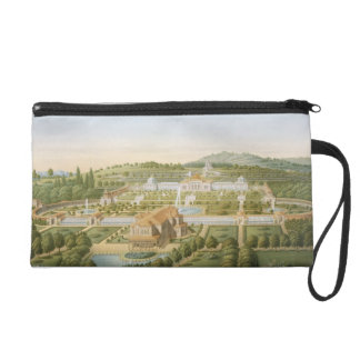 Aerial view of the villa of King Guillaume of Wurt Wristlet Purse