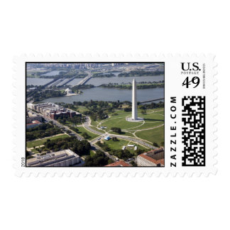 Aerial view of the Washington  Monument Stamp