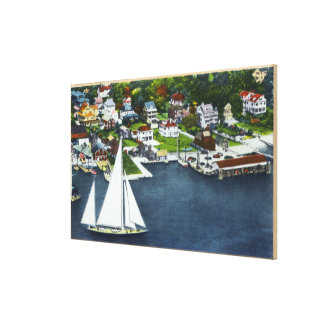 Aerial View of the Waterfront Canvas Print