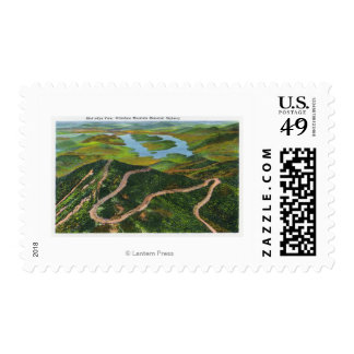 Aerial View of the Whiteface Mt Memorial Hwy Postage