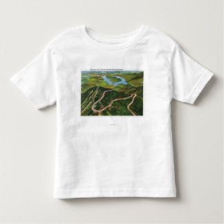 Aerial View of the Whiteface Mt Memorial Hwy Tee Shirts