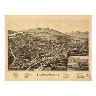 Aerial View of Ticonderoga, New York (1891) Postcard
