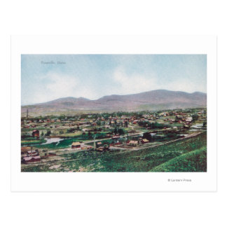 Aerial View of Town from the Hills Postcard