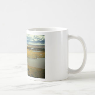 AERIAL VIEW OF TUNDRA TURNING GOLDEN IN THE FALL CLASSIC WHITE COFFEE MUG