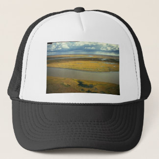 AERIAL VIEW OF TUNDRA TURNING GOLDEN IN THE FALL TRUCKER HAT