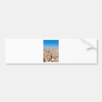 Aerial view of Valencia, Spain Bumper Sticker