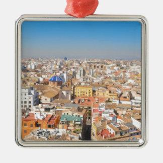 Aerial view of Valencia, Spain Metal Ornament
